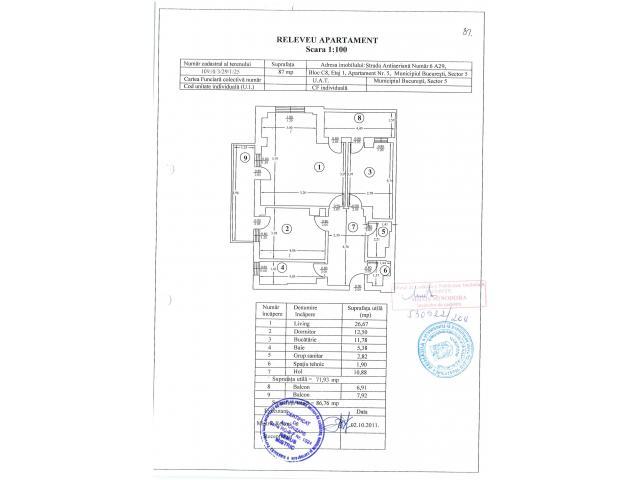 Apartament 2 camere - situat in Bucuresti - Complex Brava - Antiaeriana - 4/4