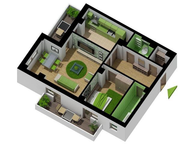 Apartament 2 camere impreuna cu Garaj  - situat in Bucuresti - Complex Brava - Antiaeriana - 3/5