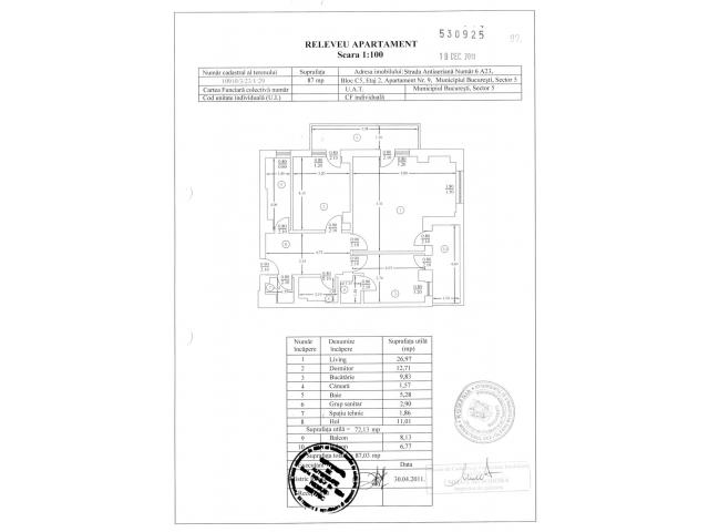 Apartament 2 camere impreuna cu Garaj  - situat in Bucuresti - Complex Brava - Antiaeriana - 4/5