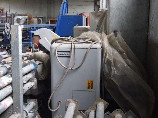Masina de tâmplărie aluminiu PVC Elumatec si Generator Atlas Copco GA7FA - 1/9