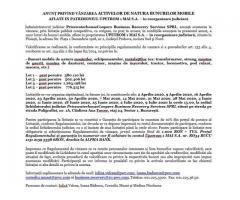 ANUNŢ PRIVIND VÂNZAREA ACTIVELOR DE NATURA BUNURILOR MOBILE AFLATE IN PATRIMONIUL UPETROM 1 MAI S.A.