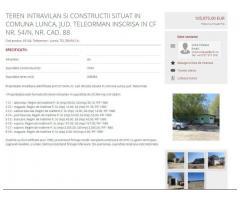 Licitatie publica active imobile din patrimoniul societatii TEL DRUM SA